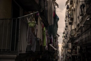 """A general view of the """"Quartieri Spagnoli"""" in Naples, Italy on June 16, 2020. Popular neighborhoods are those that more than others are suffering from the economic crisis generated by the coronavirus. The rate of poverty and unemployment that was higher than the national average in Southern Italy even before the pandemic, increased following the lockdown imposed by the government to counter the spread of the coronavirus, which blocked the country's economy for more than two months."""