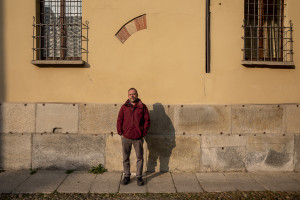 A portrait of the president of the Piam onlus Alberto Mossino in Asti, Northern Italy on January 14, 2020. Piam is a non-profit organization that manages a series of reception centers for the victims of human trafficking in the Northern Italian city of Asti, founded in 1999 by Alberto and the former victim of human trafficking Princess Inyang Okokon.