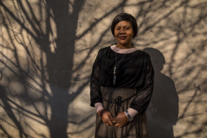 A portrait of Princess Inyang Okokon in Asti, Northern Italy on January 12, 2020. Princess illegally entered Italy in 1998 as a victim of human trafficking. When she met her future husband Alberto Mossino she was able to pay off her debt of 45000 euros with the madame and interrupt that kind of life. In 1999, together with Alberto, she decided to found the non-profit organization Piam (migrant reception integration project) to help foreign girls victims of human trafficking.