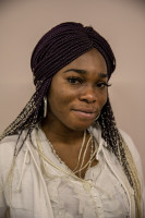 Blessing, 29 years old from Edo State, Nigeria is portrayed in Asti, Northern Italy on January 12, 2020.