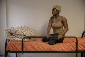 Blessing, 29 years old from Edo State, Nigeria is portrayed in Asti, Northern Italy on January 10, 2020.