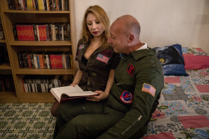 """Backstage scenes of """"Top gun"""" movie porn parody realized by Napolsex production in Ischia island, Southern Italy on July 25, 2021."""