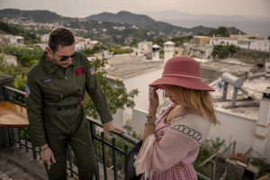 """Backstage scenes of """"Top gun"""" movie porn parody realized by Napolsex production in Ischia island, Southern Italy on July 26, 2021."""